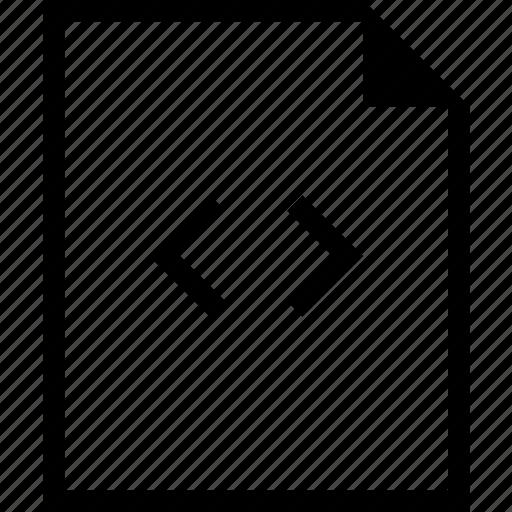code, coding, document, file, tag icon