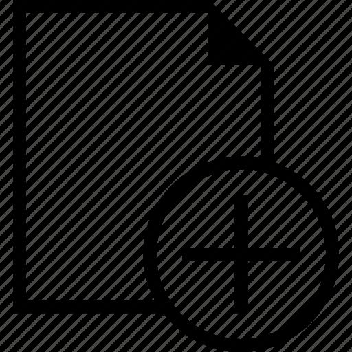 add, document, file, more, plus icon