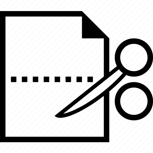 copy, cut, document, file, scissor icon