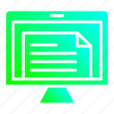 document, file, online, screen, treatment icon