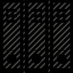 binder, file, filing, three-ring binder icon