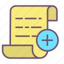 add, documents