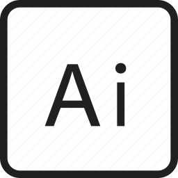adobe, ai file, aifile, file, format, illustrator, illustrator file icon