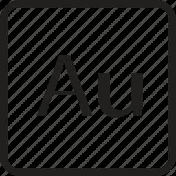 adobe, au, document, extension, file, folder, format icon