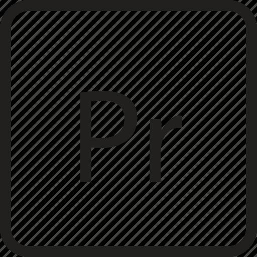 adobe, document, extension, format, pr, premier, premiere icon