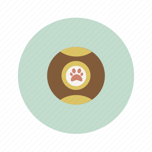 ball, dog, footstep icon