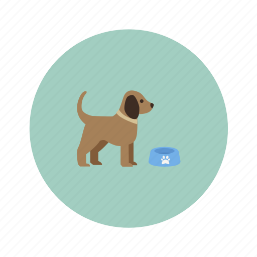 animals, bowl, dog, pet icon