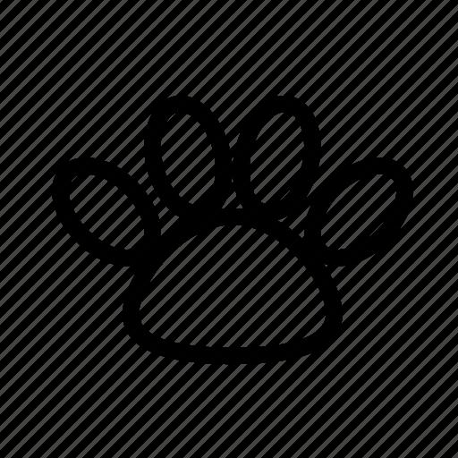 animal, dog, foodprint, trace icon