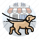 dogs, labrador retriever, pet icon