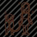 dog, animal, kennel, walk, stroll, pet, owner icon