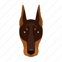 animal, breed, doberman, dog, domestic, muzzle, pet icon