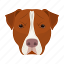 animal, breed, dog, domestic, muzzle, pet, staffordshire icon