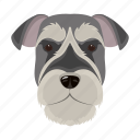 animal, breed, dog, domestic, muzzle, pet, risen-schnauzer icon