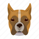 animal, boxer, breed, dog, domestic, pet icon