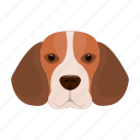animal, beagle, breed, dog, domestic, muzzle, pet icon