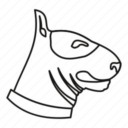 animal, bull, dog, line, outline, pet, terrier icon