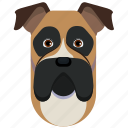 animal, boxer, dog, pet icon
