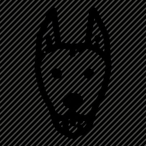 animal, canine, doberman, dog, face, pet, puppy icon