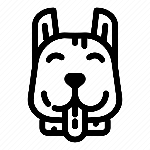 animal, canine, dog, face, pet, pit bull, puppy icon