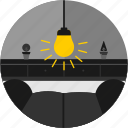 couch, good, lamp, light, livingroom, plant icon