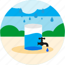 bush, collect, drops, good, rain, tab, water icon