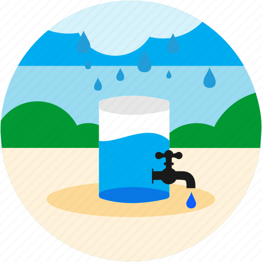 bush, collect, drops, good, rain, tab, water icon