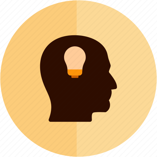 good, head, idea, lamp, lightbulb, think, thought icon