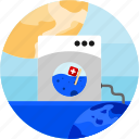 earth, flag, flood, mashine, sun, swiss, washing icon
