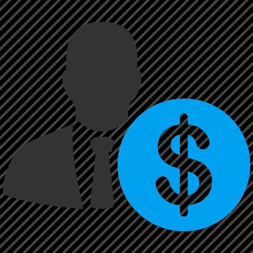 accountant, client, contractor, employee, employer, financier, supervisor icon