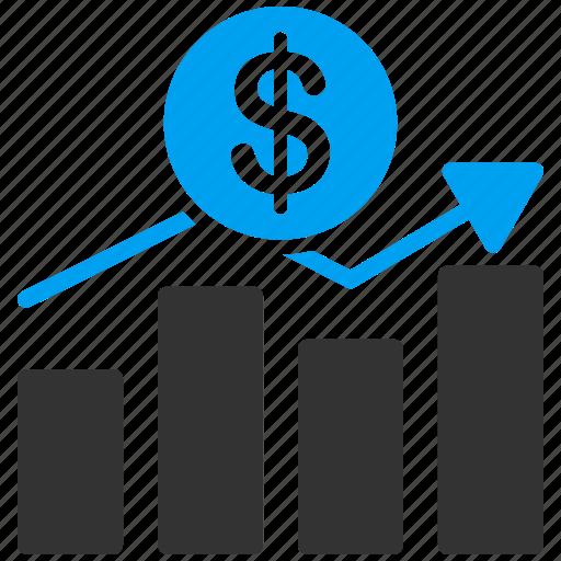 analytics, diagram, graph, growth, sales chart, statistics, trend icon