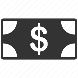 bank note, banknote, cash, currency, dollar, finance, payment icon