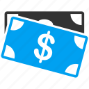 bank notes, business, cash, dollar banknotes, finance, money, payment icon