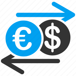 bank, currency exchange, finance, financial, international, money change, payment icon