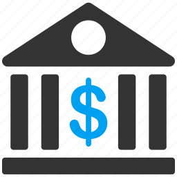 bank building, company, dollar, finance, financial center, office, payment icon
