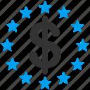 stars, money, dollar, cash, gain, prize, award icon