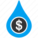 business, cash flow, cashflow, drop, financial, liquid, water icon