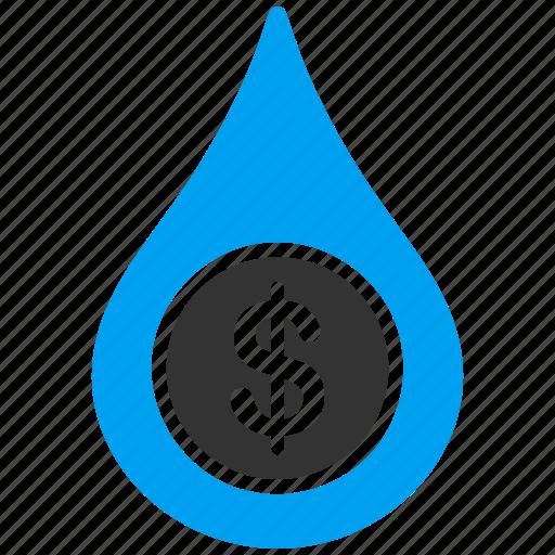 business, cash flow, cashflow, drop, financial, liquid, water icon