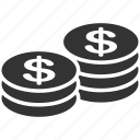 bank, business, cash, coins, dollar, finance, money