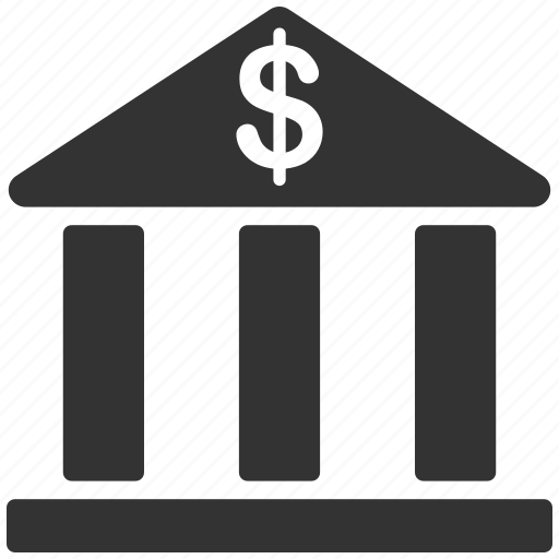 bank building, cash, dollar, finance, money, museum, payment icon