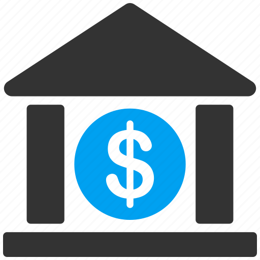 bank building, cash, dollar, finance, library, money, payment icon