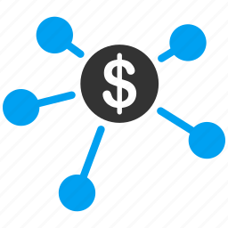 bank, branches, cash, flow, payments, payouts, transactions icon