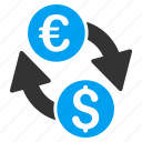 bank, currency exchange, euro, european, finance, money transfer, payment icon