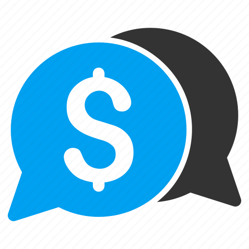 bids, chat, communication, dialog, finance, messages, money transaction icon