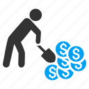 finance, financial, income, mining, money, profit, success business icon