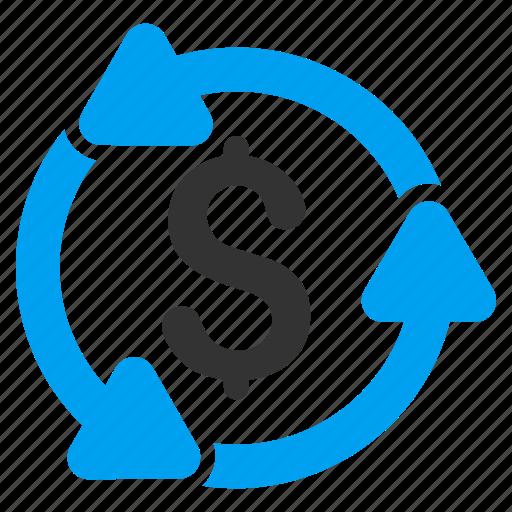 conversion, exchange, financing, money turnover, profit, regular, revenue icon