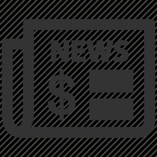 bloomberg, document, journal, magazine, mass media, news, newspaper icon
