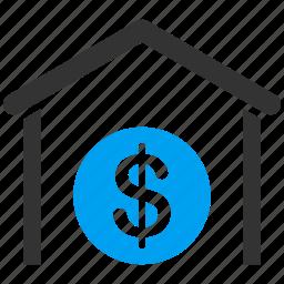 bank, currency, finance, garage, money, storage, warehouse icon