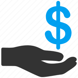 business, cash, dollar, hand, investment, money, payment icon