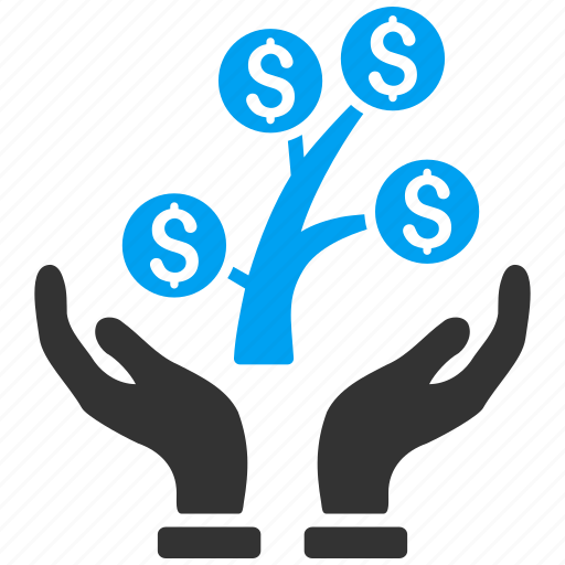 business project, care hands, money tree, science, startup, success, venture company icon