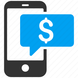 chat, finance, money, phone, send sms, text message icon